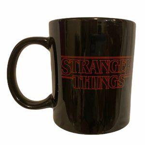 Stranger Things Friends Don't Lie Black Coffee Mug